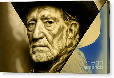 Willie Nelson Collection Canvas Print