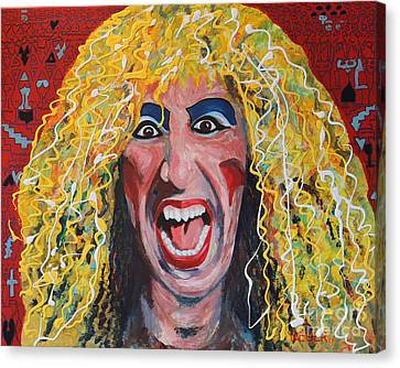 80s Hair Bands Twisted Sister Canvas Print by Robert Yaeger