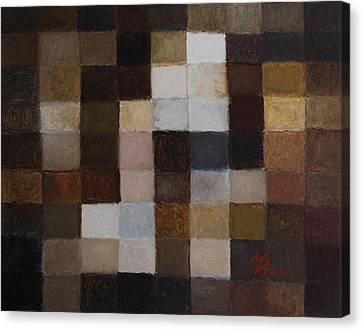 81 Color Fields - Raw Umber Canvas Print by Attila Meszlenyi