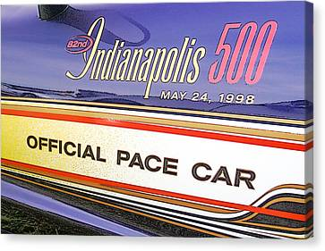 82nd Indy 500 Pace Car Canvas Print by Darrell Foster