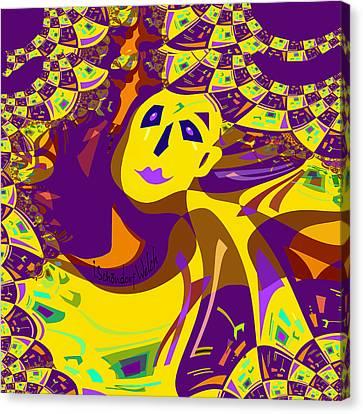 874 - Mellow Yellow Clown Lady - 2017 Canvas Print