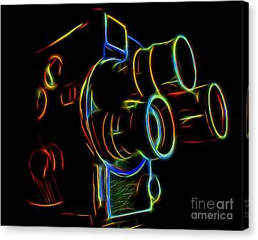 8mm In Neon Canvas Print by Mark Miller