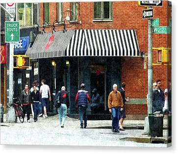 8th Ave. And W 22nd Street Chelsea Canvas Print by Susan Savad