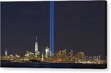 9-11 Nyc Skyline  Canvas Print by Jerry Fornarotto