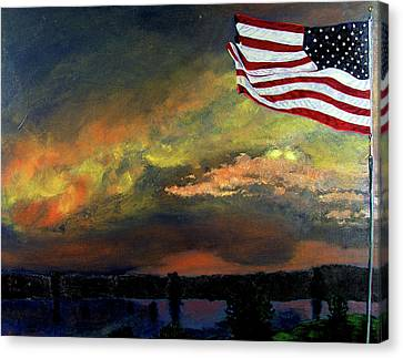 9-11 Canvas Print by Stan Hamilton