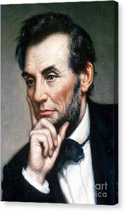 Abraham Lincoln 16th American President Canvas Print by Photo Researchers