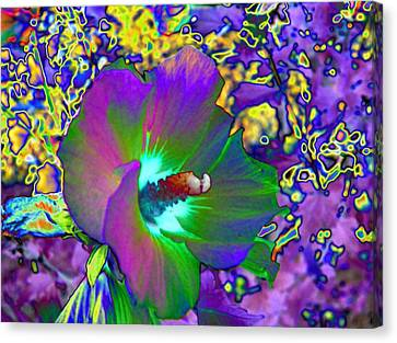Abstract Flowers Canvas Print by Belinda Cox