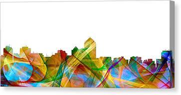 Albuquerque New Mexico Skyline Canvas Print by Marlene Watson