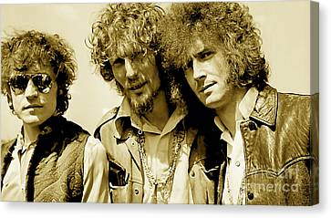 Cream Canvas Print - Cream Eric Clapton Jack Bruce Ginger Baker by Marvin Blaine