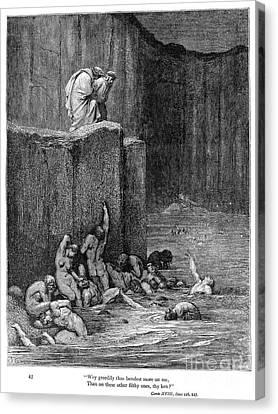 Dante: Inferno Canvas Print by Granger