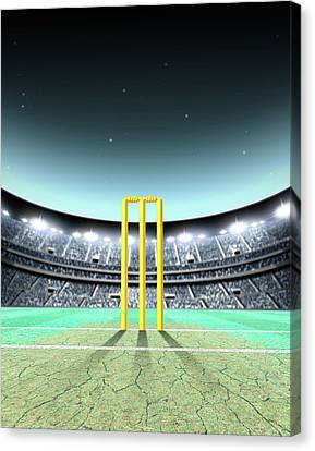 Floodlit Stadium Night Canvas Print by Allan Swart