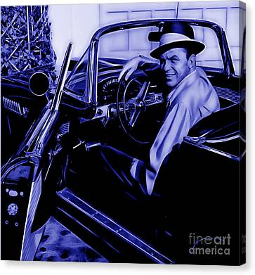 Frank Sinatra Collection Canvas Print by Marvin Blaine