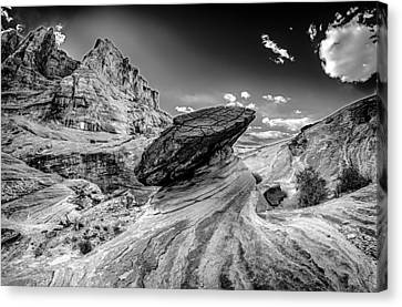 Hoodoos At Stud Horse Point In Arizona Canvas Print by Alex Grichenko