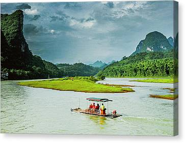 Lijiang River Scenery Canvas Print by Carl Ning
