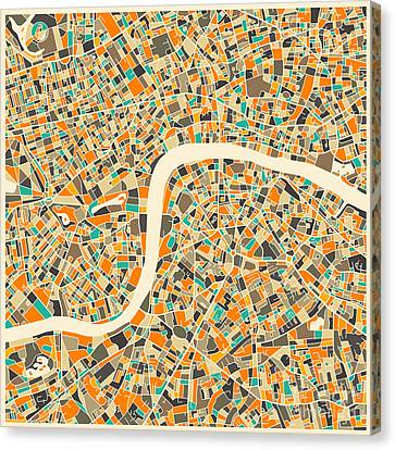 London City Map Canvas Print - London Map by Jazzberry Blue