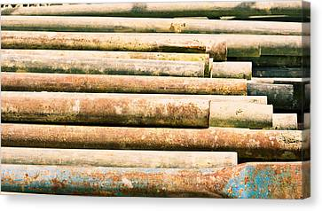 Component Canvas Print - Metal Bars by Tom Gowanlock