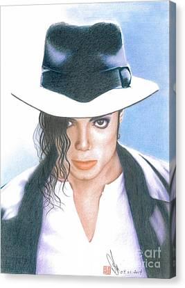 Michael Jackson #three Canvas Print by Eliza Lo