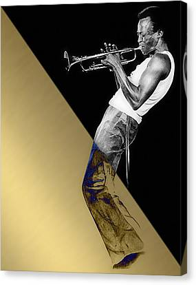 Miles Davis Collection Canvas Print by Marvin Blaine