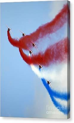 Patrouille De France Canvas Print by Angel  Tarantella