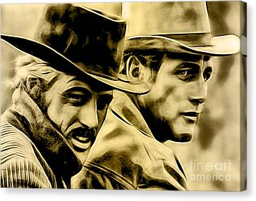 Paul Newman Collection Canvas Print by Marvin Blaine