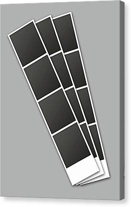 Photo Booth Picture Strip Canvas Print by Allan Swart
