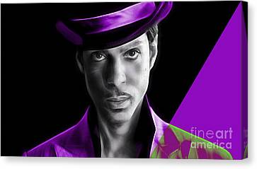 Prince Tribute Canvas Print by Marvin Blaine
