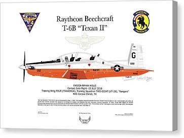 Raytheon Beechcraft T-6b Texan II Canvas Print by Arthur Eggers