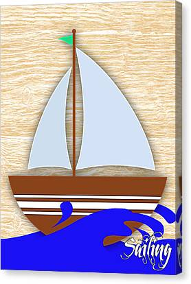 Sailing Collection Canvas Print