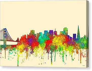San Francisco California Skyline Canvas Print by Marlene Watson