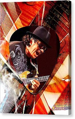 Santana Art Canvas Print by Marvin Blaine