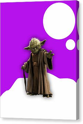 Film Canvas Print - Star Wars Yoda Collection by Marvin Blaine