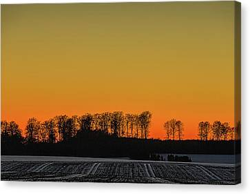 Sunset Canvas Print by Elmer Jensen