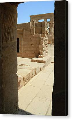 Canvas Print featuring the photograph temple of Isis by Silvia Bruno