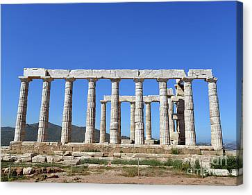Antiquity Canvas Print - Temple Of Poseidon by George Atsametakis