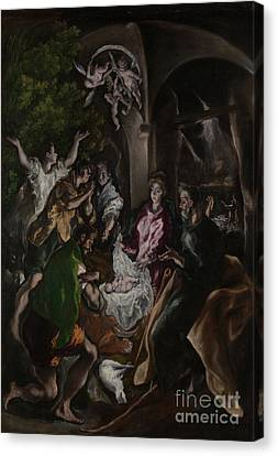 Nativity Canvas Print - The Adoration Of The Shepherds by El Greco