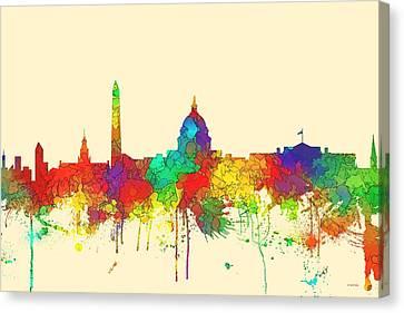 Washington Dc Skyline Canvas Print by Marlene Watson
