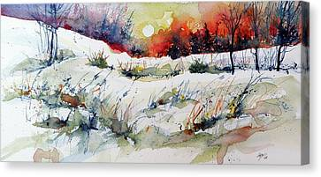 Winter Landscapes Canvas Print - Winter by Kovacs Anna Brigitta