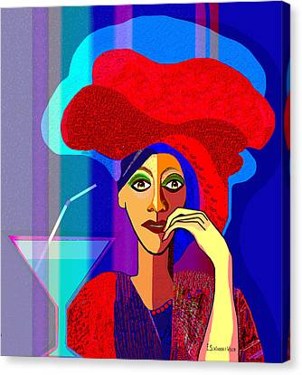 909 -   Summer   Cocktail Canvas Print