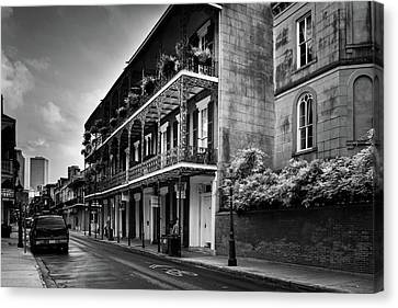 910 Royal Street In Black And White Canvas Print by Greg and Chrystal Mimbs