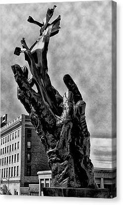 911 Memorial - Norristown Canvas Print by Bill Cannon