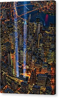 911 Nyc Tribute In Light Canvas Print