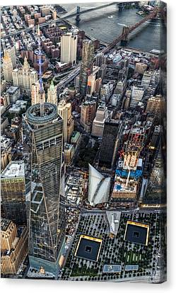911 Reflecting Pools Aerial View II Canvas Print by Susan Candelario
