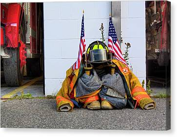 Canvas Print featuring the photograph 911 Tribute IIi by Greg DeBeck