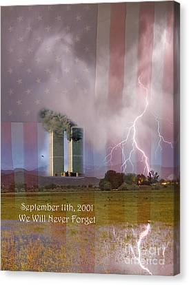911 We Will Never Forget Canvas Print by James BO  Insogna