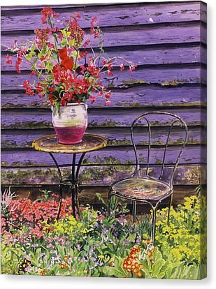 Canvas Print - Linda's Garden by David Lloyd Glover