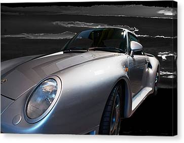 959 Porsche Canvas Print by Paul Barkevich
