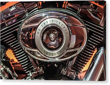 96 Cubic Inches Softail Canvas Print by Randy Scherkenbach