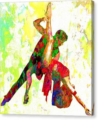 Ballet Canvas Print - Dance by Elena Kosvincheva