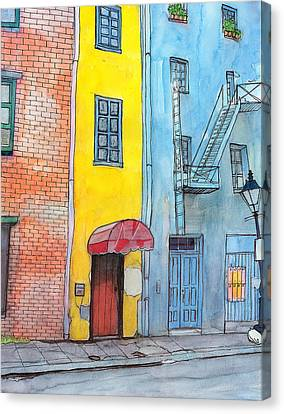 98  French Quarter Back Alley Canvas Print by John Boles