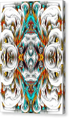 Canvas Print featuring the digital art 992.042212mirror2ornategold-1-a by Kris Haas